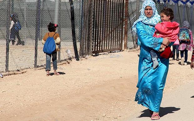 Syrian refugees at Zattari refugee camp, Mafraq city, Jordan.